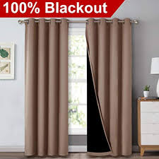 Curtains for picture window Bath Nicetown Complete Blackout Shades For Large Window Door 100 Blackout Window Curtain Panels With Amazoncom Large Window Curtains Amazoncom