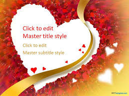 Heart Powerpoint Templates Free Love Heart Ppt Template