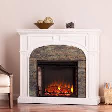 southern enterprises tanaya 45 inch electric fireplace mantel w infrared heater white w
