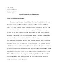 Interpersonal Relations Leadership Development Plan Draft