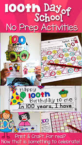 100th Day Of School Activities No Prep Crafts And More 100
