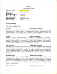 Employee Performance Review Examples Apa Examples