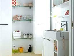 small floor shelf small floor cabinet next bathroom narrow small white floor cabinet glass shelves tall
