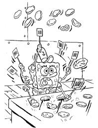 Spongebob Maakt Pasteitjes Kleurplaat Gratis Kleurplaten Printen