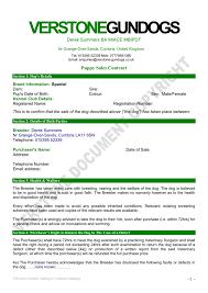 contract of sale - Verstone Gundogs