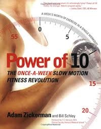 Power Of 10 Workout Chart Power Of 10 Once A Week Slow Motion Fitness Revolution