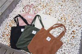 <b>Women</b> Corduroy Shopping <b>Bag Female Canvas</b> Cloth <b>Shoulder</b> ...