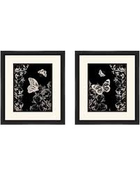butterfly botanical wall art set of 2 on botanical wall art set of 2 with great deals on butterfly botanical wall art set of 2