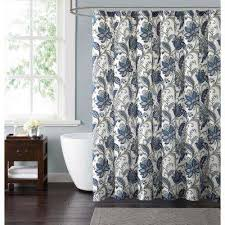 blue and coral shower curtain. bettina floral 72 in. blue and grey shower curtain coral