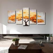 com 999 multiple frames handmade large golden tree acrylic painting on canvas wall art painting for living room by indian home décor artwork
