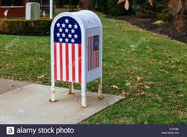 metal mailbox flag. Home Office American Flag Metal Mailbox In Garden M