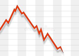 Chart Stock Photo Falling Stock Chart Stock Illustration Illustration Of