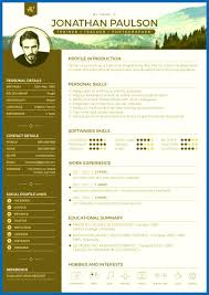 Modern Resume Template. Vector Modern Cv Resume Template School ...