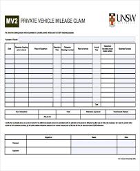 Car Mileage Claim Form 51 Sample Claim Forms