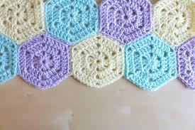 Hexagon Crochet Pattern Custom Solid Hexagon Free Pattern Bella Coco By SarahJayne