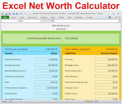 Simple Personal Balance Sheet Example Personal Net Worth Calculator Excel Spreadsheet Personal