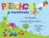 Such A Cute Preschool Certificate For Graduation They Have A Free
