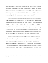 reflective essay doctor who and the american west  4