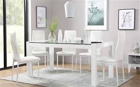 venice white high gloss and gl dining table with 4 renzo white chairs white