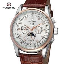 popular moon phase watch buy cheap moon phase watch lots from fsg319m3t4 forsining automatic self wind dress men moon phase watch complete calendar shipping