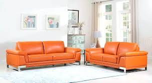 camel leather sofa orange for
