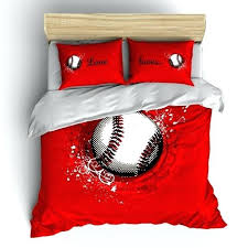 baseball comforters monogrammed red baseball comforter 2 personalized with your initials or instructions baseball themed comforter sets