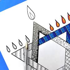 Small Picture Chanukah Coloring Page for Adults Beyond the Balagan