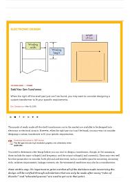 Transformer Bobbin Sizes Chart Pdf Build Your Own Transformer 34m7gv0pyz46