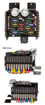 universal style pre wired 14 circuit fuse block painless performance wiring radio to fuse box at Wiring To Fuse Box