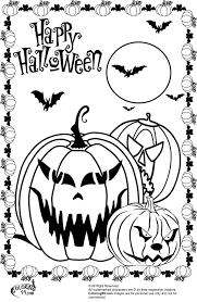 Small Picture Scary Halloween Coloring Sheets Pumpkin Creature Page Scary