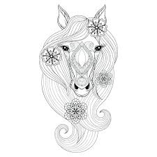Horse Head Coloring Page Horse Head Coloring Page Pages Colouring