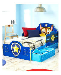 paw patrol bedding chase toddler bed with storage bedroom furniture tesco paw patrol bedding sets by toddler