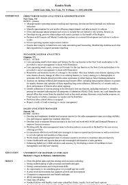 Sales Analytics Resume Samples Velvet Jobs