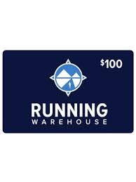 Running Warehouse Gift Card $100