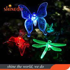 Dragonfly Garden Lights Hot Item Dragonfly Butterfly Bird Solar Decorations Lamp Garden Stake Light