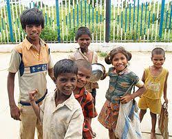 street children in  street children at a railway station in medak district andhra pradesh