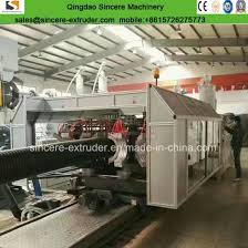 hdpe pp double walled corrugated water drainage pipe production line