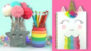 diy unicorn school supplies back to school