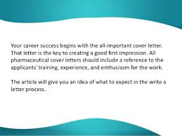 A Cover Letter Begins With Free Sample Cover Letter Pharmaceutical