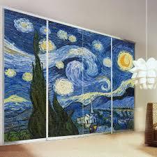 yazi personalized size star night vinyl self adhesive wallpaper mural window door glass wardrobe sliding