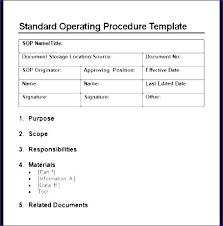 Free Sop Template Microsoft Word 13 Standard Operating Procedure