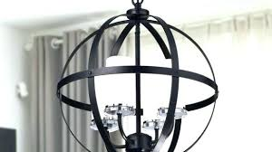 full size of large iron globe chandelier rustic crystal black orb decor 4 light home improvement