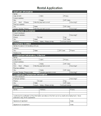 Printable Rental Application Template Form Alberta Doc Forms Lease ...
