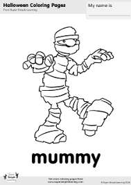 Small Picture Free Mummy Coloring Page from Super Simple Learning