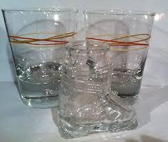 3 baileys irish cream bubble base glasses rocks tumblers ski boot shot glass