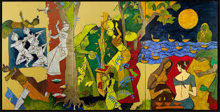 m f husain traditional indian festivals 2008 2016 courtesy of usha mittal