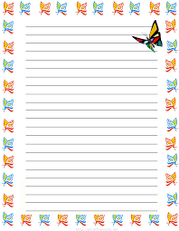 girl butterflies printable kids stationery printable girl butterflies printable kids stationery printable writing paper for kids regular lined