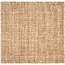 natural fiber beige 8 ft x 8 ft square area rug