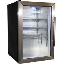 schmick tropical glass door bar fridge 68litre model ec68l ssh angle