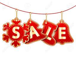 Christmas Sale Tags On Christmas Signs Vector Illustration Royalty
